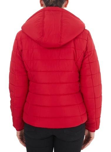 Armani Exchange  Çıkarılabilir Kapüşonlu Dik Yaka Mont Kadın Mont 8Nyb12 Ynmaz 1469 Kırmızı